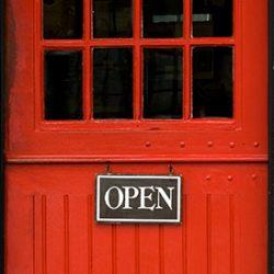 The Orange Shop Door