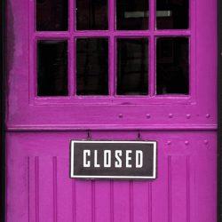 The Purple Shop Door