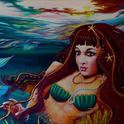 Mermaid Glass Mural Thumbnail
