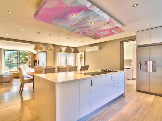 00-kitchen-with-modern-drop-ceiling-pink-by-Sharron-Tancred-#The_Mural_Shop