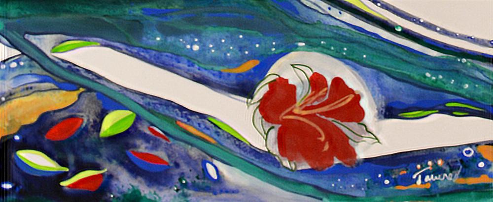 AM42-Hawaii-Flower-Mosaic-Mural-by-Sharron-Tancred-The-Mural-Shop