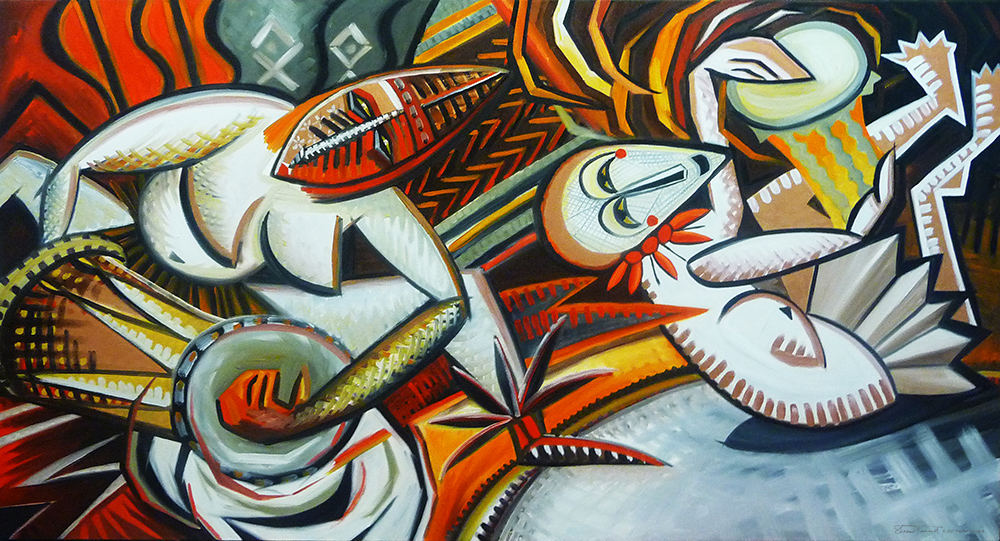 AM44-The-Drummers-Mosaic-Mural-by-Sharron-Tancred-The-Mural-Shop
