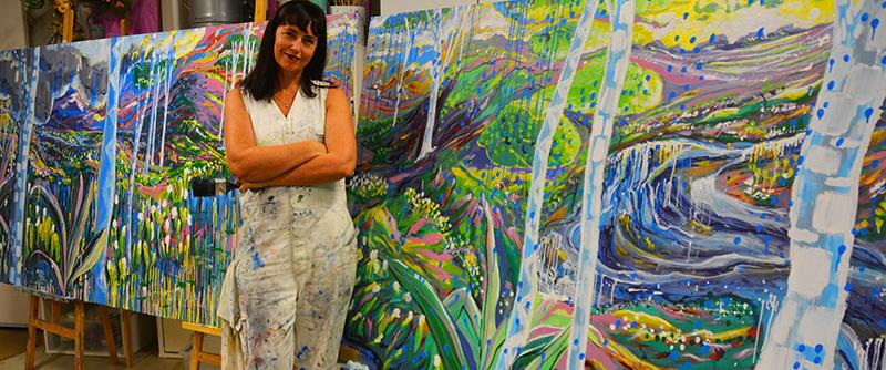 Buy Outdoor Wall Décor Artwork direct from Artist_Australian made outdoor art_by_Sharron_Tancred_The_Mural_Shop