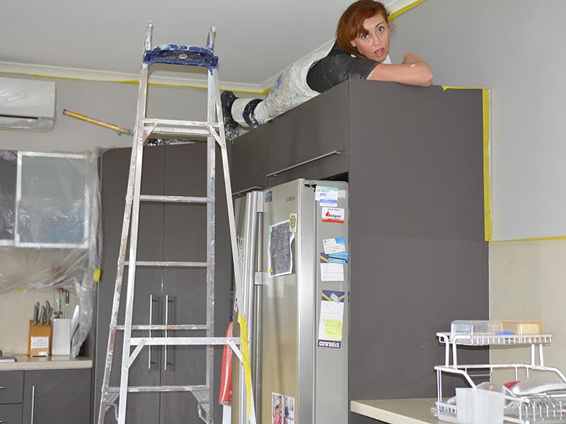 sharron up ladder