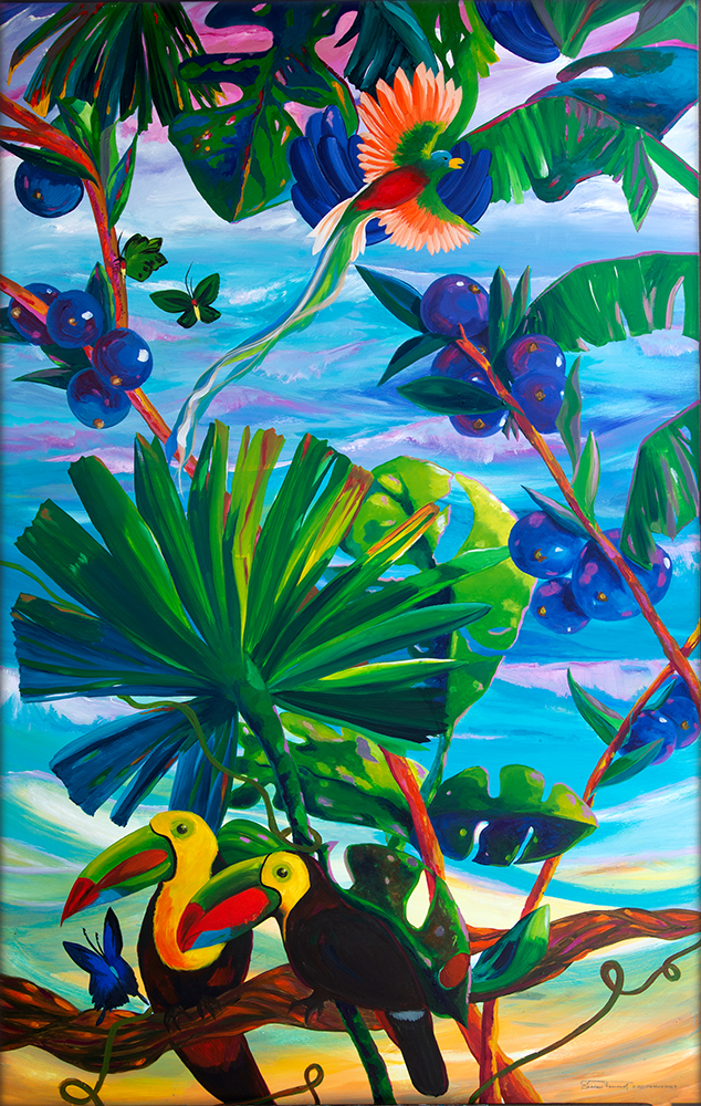 TM59-Toucan-Paradise-Left-Mosaic-Mural-by-Sharron-Tancred-The-Mural-Shop
