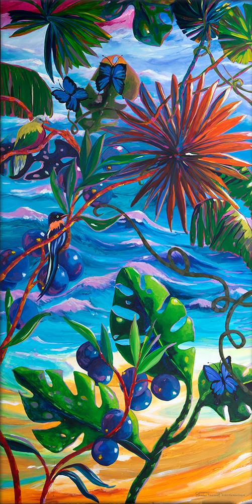 TM60-Toucan-Paradise-Right-Mosaic-Mural-by-Sharron-Tancred-The-Mural-Shop