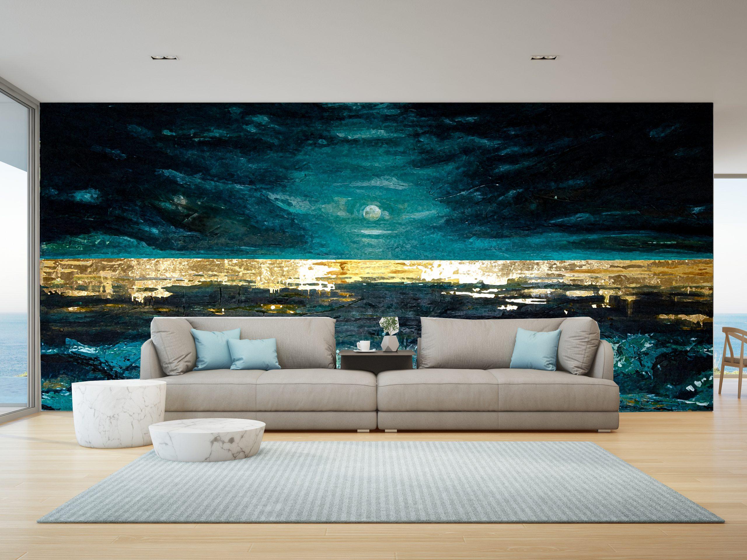 Seascape art wallpaper by Sharron Tancred The Mural Shop