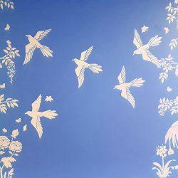Elegant Birds Blue