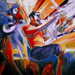 Freddie Mercury Rocks Purple