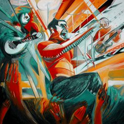 Freddie Mercury Rocks Turquoise