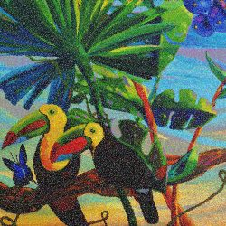 Fruits of Our Love Toucan Mosaic