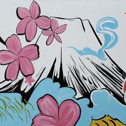 Jap Street Art Mountain